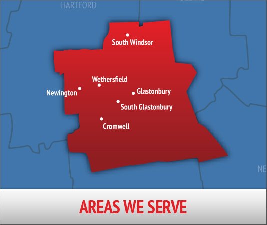 Service area map for Degree Heating & Cooling air conditioning services